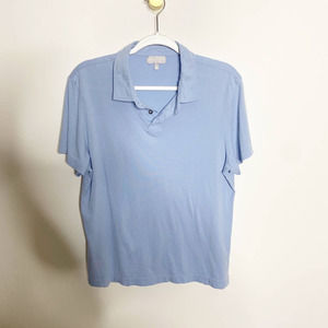 Hickey Freeman Pima Cotton Blue Polo Shirt-Sz M
